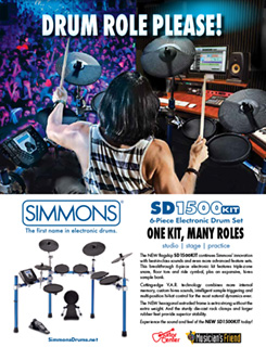 Simmons Drum Role Ad
