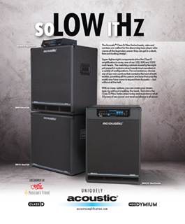 Acoustic Class D Neo So Low It Hz Ad