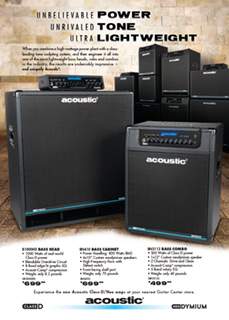 Acoustic Class D Neo Spotlight Ad