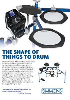 Simmons Shape Of Things To Drum Ad