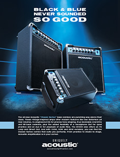 Acoustic C-Series Black and Blue Ad