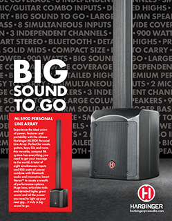 Harbinger MLS900 Big Sound To Go Ad